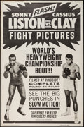 "Movie Posters:Sports, Liston vs. Clay (20th Century Fox, 1964). Poster (40"" X 60"").Sports.. ..."
