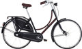"""Luxury Accessories:Home, Hermes Limited Edition Carbon Fiber & Havane Clemence Leather Three Speed Batavus Bicycle . Pristine Condition . 77"""" W..."""