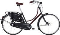 Hermes Limited Edition Carbon Fiber & Havane Clemence Leather Three Speed Batavus Bicycle Pristine Condition &lt...