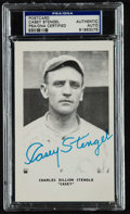 Baseball Collectibles:Others, Casey Stengel Signed Postcard....