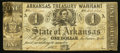 Obsoletes By State:Arkansas, (Little Rock), AR- The State of Arkansas $1 Apr. 29, 1862 Cr. 34. ...
