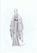 Art Glass:Daum, Abi Ferrin. Original Sketch inspired by Salome. Benefitting TheDallas Opera. ...