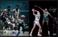 Basketball Collectibles:Photos, Bill Russell Signed Photographs Lot of 2. ...