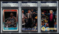 Basketball Cards:Lots, Don Nelson, Larry Brown and Dennis Rodman Signed Cards (3)....