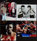 Boxing Collectibles:Autographs, Boxing Greats Signed Photographs Lot of 4....