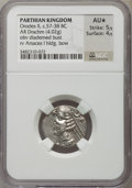 Ancients:Oriental, Ancients: PARTHIAN KINGDOM. Orodes II (57-38 BC). AR drachm (4.02 gm). ...