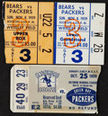Football Collectibles:Tickets, 1959 Vince Lombardi Green Bay Packers Ticket Stubs - From Coaching Legend's 1st Season! ...