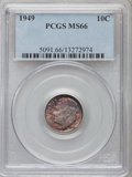 Roosevelt Dimes: , 1949 10C MS66 PCGS. PCGS Population (681/88). NGC Census: (601/250). Mintage: 30,940,000. Numismedia Wsl. Price for problem...