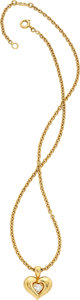 Estate Jewelry:Necklaces, Diamond, Gold Pendant-Necklace, Van Cleef & Arpels, French. ...
