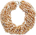 Estate Jewelry:Necklaces, Freshwater Cultured Pearl, White Gold Necklace, ChristopherWalling. ...