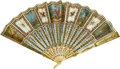 Estate Jewelry:Other , Bone, Gold, Painted Silk Hand Fan, Tiffany & Co.. ...