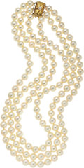 Estate Jewelry:Necklaces, Cultured Pearl, Gold Necklace, Mikimoto. ...