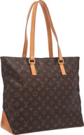 """Luxury Accessories:Bags, Louis Vuitton Classic Monogram Canvas Cabas Mezzo Tote Bag. Goodto Very Good Condition . 17"""" Width x 12"""" Height x 6"""" ..."""