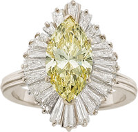 Fancy Yellow Diamond, Diamond, Gold Ring