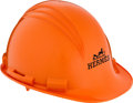 """Luxury Accessories:Accessories, Hermes Limited Edition Orange PVC Construction Hard Hat.Excellent Condition. 9"""" Width x 6"""" Height x 11""""Depth, . ..."""