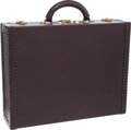 "Luxury Accessories:Travel/Trunks, Louis Vuitton Mahogany Taiga Leather Hardsided Briefcase. VeryGood to Excellent Condition. 18"" Width x 14"" Height x4..."