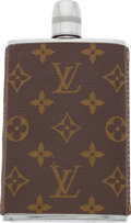 "Luxury Accessories:Accessories, Louis Vuitton Classic Monogram Canvas Flask . Excellent Condition . 4"" Width x 5.5"" Height . ..."
