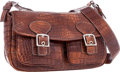 """Luxury Accessories:Bags, Coach Limited Edition Matte Hickory Alligator Messenger Bag, 6/100.Excellent Condition. 12"""" Width x 7"""" Height x 4"""" De..."""