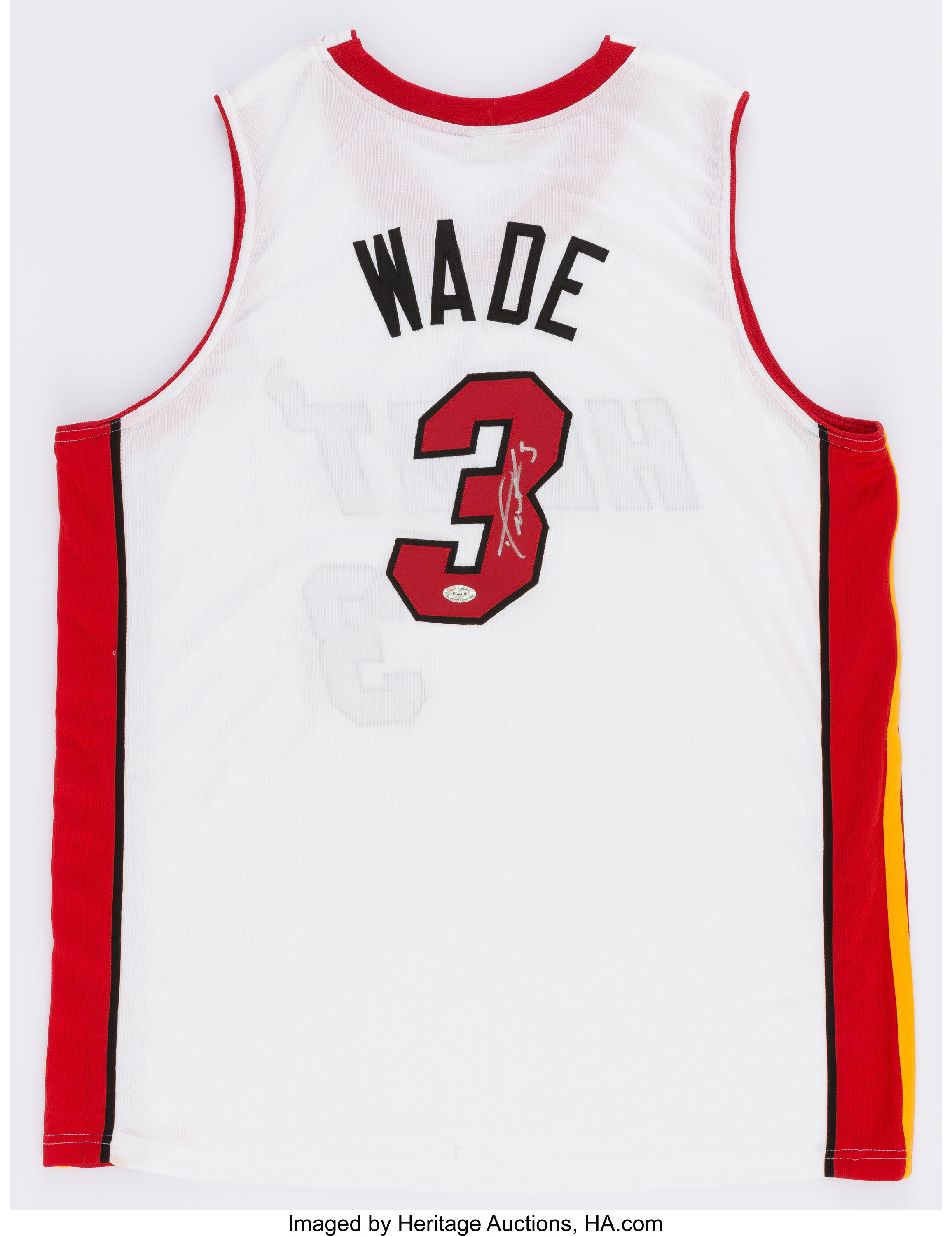 differently 7d7b8 6ca78 Dwyane Wade Signed Miami Heat Jersey.... Basketball ...