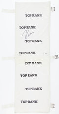 Boxing Collectibles:Autographs, Julio Cesar Chavez Signed Top Rank Boxing Ring Pad....