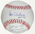Autographs:Baseballs, Circa 2008 Dave Niehaus Single Signed Baseball With LengthyInscription....