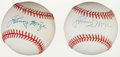 Autographs:Baseballs, Circa 1990 Johnny Mize Single Signed Baseballs Lot of 2....