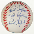 Autographs:Baseballs, Circa 1995 Paul Foytack, Jack Fisher & Tracy Stallard MultiSigned Roger Maris 1961 Theme Ball....