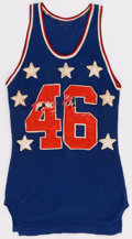 Basketball Collectibles:Uniforms, Circa 1950-55 College All Star Basketball Game Worn DureneJersey....