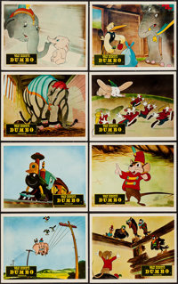 """Dumbo (RKO, 1942). British Front of House Set of 8 (8"""" X 10""""). Animation. ... (Total: 8 Items)"""