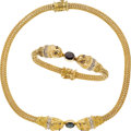 Estate Jewelry:Lots, Sapphire, Diamond, Ruby, Gold Jewelry Suite. ... (Total: 2 Items)