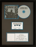 Music Memorabilia:Awards, Jay-Z Vol. 3... Life and Times of S. CarterMulti-Platinum Sales Award (Roc-A-Fella 314 546 822-2, 1999)....