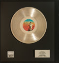 Music Memorabilia:Awards, Supertramp Breakfast in America Platinum Record Award(A&M SP-3708, 1979)....