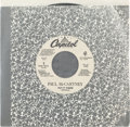 "Music Memorabilia:Recordings, Beatles - Paul McCartney ""Put It There"" White Label Promo 45 Single(Capitol 7PRO-79074, 1989)...."