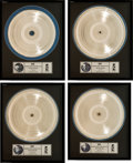 Music Memorabilia:Awards, U2 Rattle and Hum Original Metal Master Plate Discs (Set ofFour), All in Individual Framed Displays (Island ST-IL... (Total: 4Items)