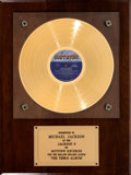 Music Memorabilia:Awards, Jackson 5 Third Album Gold Record Award (Motown S-718,1970). ...