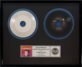 "Music Memorabilia:Awards, Elvis Presley ""A Mess of Blues"" Original Metal Master Disc inFramed Display (RCA PB-11110B, 1977). ..."