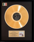 "Movie/TV Memorabilia:Awards, An 'In House' Gold Record Award for ""Dirty Dancing,"" Circa 1980s...."