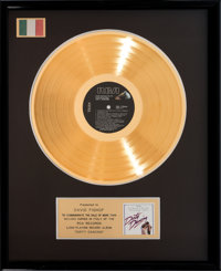 """An 'In House' Gold Record Award for """"Dirty Dancing,"""" Circa 1980s"""