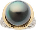 Estate Jewelry:Rings, South Sea Cultured Pearl, Diamond, Platinum, Gold Ring, Angela Cummings for Assael. ...