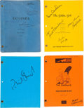 Movie/TV Memorabilia:Autographs and Signed Items, A Collection of Signed Television Scripts, 1970s-1990s.. ...(Total: 9 Items)