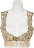 "Movie/TV Memorabilia:Costumes, A Theda Bara Bejeweled Vest from ""Cleopatra.""..."
