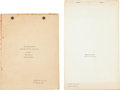 Movie/TV Memorabilia:Documents, A Group of Scripts, 1930s-1960s....