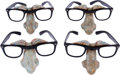 Movie/TV Memorabilia:Costumes, A Group of Funny 'Woody Allen' Glasses, Circa 1995.... (Total: 4Items)