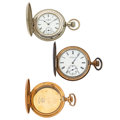 Timepieces:Pocket (post 1900), Two Hunter's Case Pocket Watches & One Case. ... (Total: 3Items)