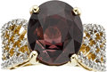 Estate Jewelry:Rings, Zircon, Diamond, Gold Ring. ...