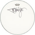 Music Memorabilia:Autographs and Signed Items, Mötley Crüe - Tommy Lee Signed Drumhead (Circa 2010). ...