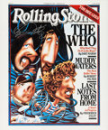 Music Memorabilia:Autographs and Signed Items, The Who - Roger Daltrey Signed Rolling Stone Cover Print....