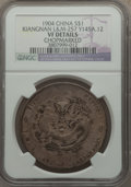 China:Kiangnan, China: Kiangnan. Dollar CD 1904 VF Details (Chopmarked) NGC,...