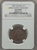 Canada: Victoria Cent 1891 AU58 Brown NGC