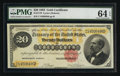 Large Size:Gold Certificates, Fr. 1178 $20 1882 Gold Certificate PMG Choice Uncirculated 64 EPQ.. ...